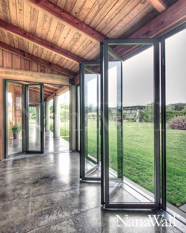 Floor To Ceiling Home Windows Induce An Exterior Feel As Well As Capture Fragile Or Vibrant Adjustmen In 2020 Folding Glass Doors Floor To Ceiling Windows House Design