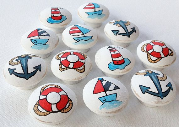Photo of Nautical / Ocean Drawer Pulls / Dresser Knobs and Pulls Boys, Kids, Nursery Rooms / Nautical Nursery Decor Room Art Baby Nursery Decor Art