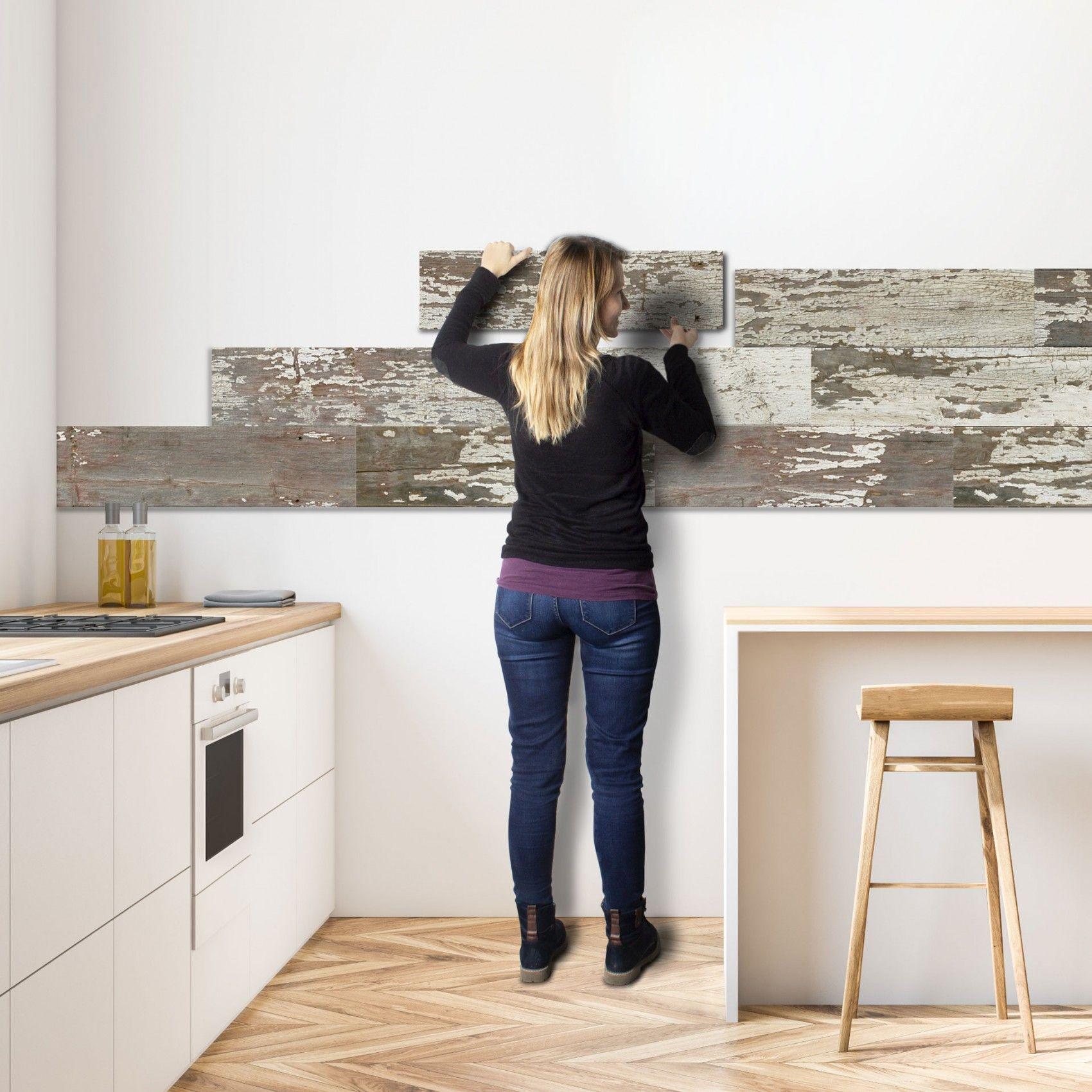 Stick It Wandverkleidung Zum Kleben White 42 In 2020 Wandverkleidung Wandverkleidung Holz Und Wandverkleidung Kuche