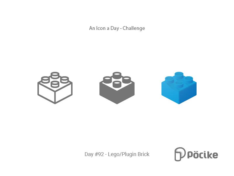 Icon Challenge Day 93 Lego Plugin Brick Lego Challenges Icon