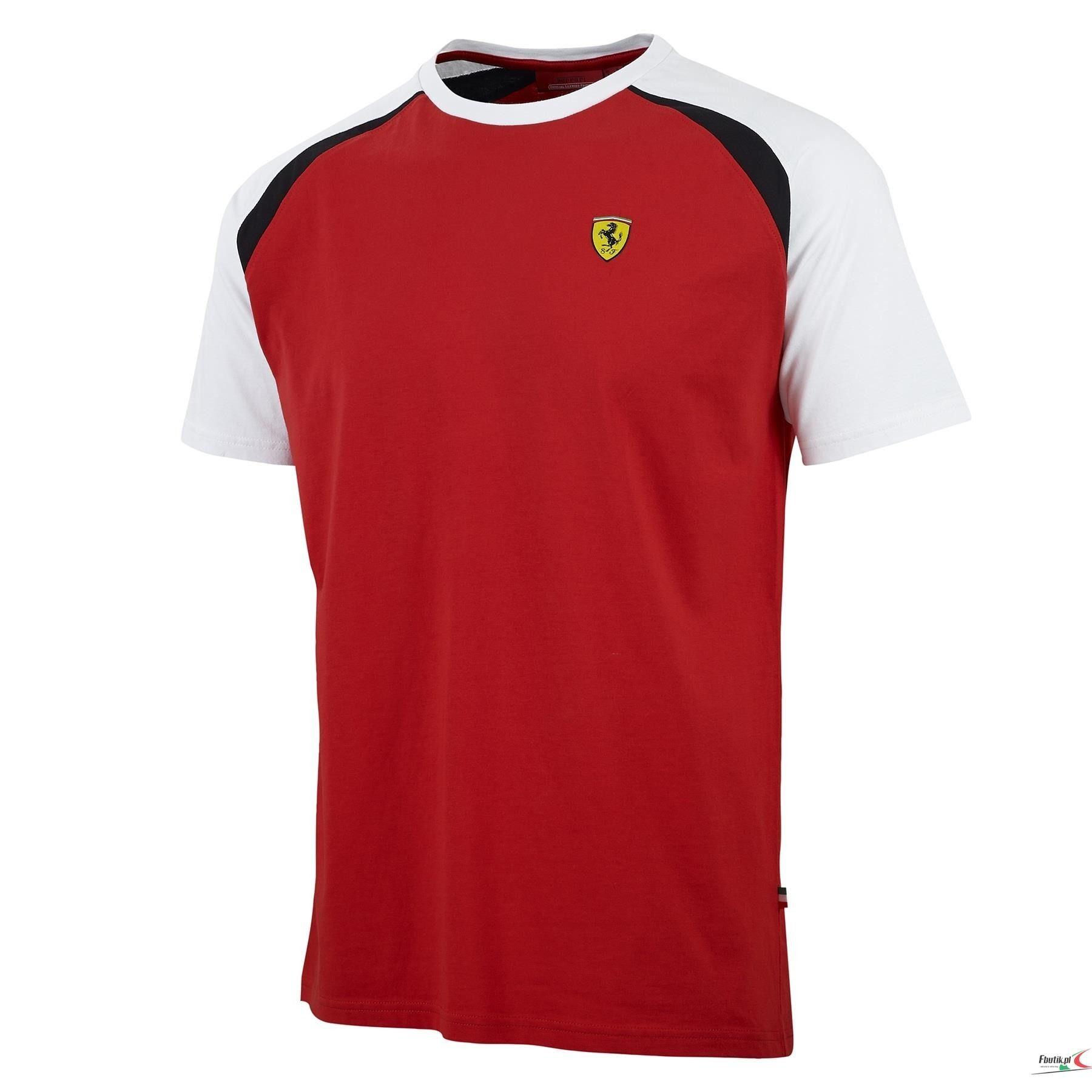 Koszulka Ferrari Race Crew Neck Tee - Red CZERWONY   FERRARI MEN \ T-SHIRT   Fbutik   Scuderia Ferrari Collection