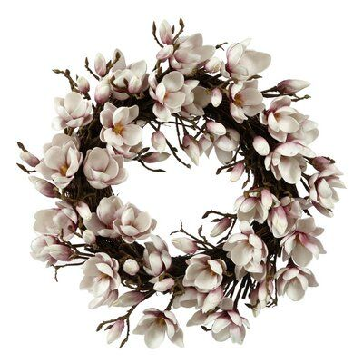 Photo of 24″ Tulip Magnolia Wreath Wreath Color: Lavender