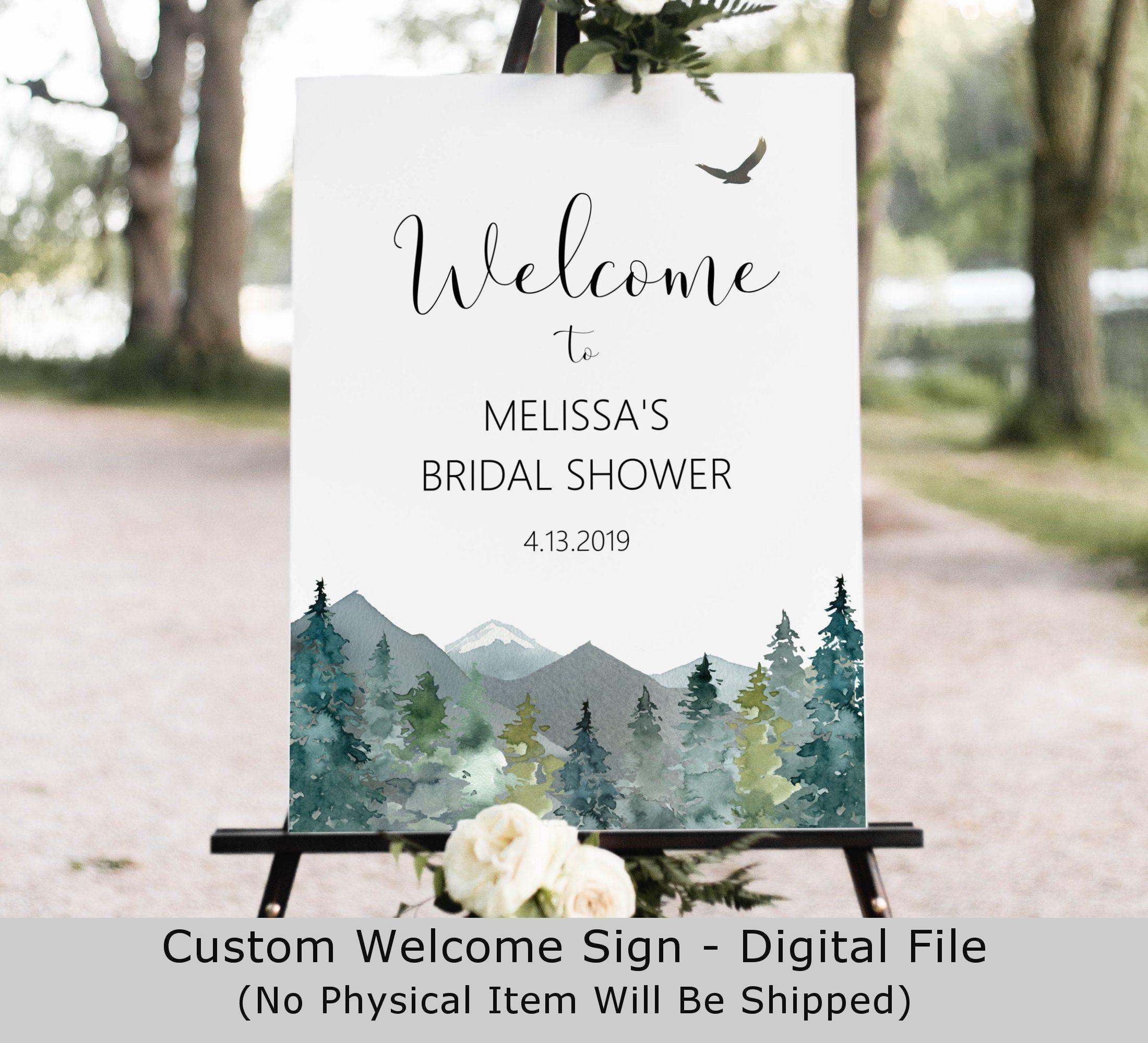 Mountain wedding favors sign forest wedding sign rustic woodland Bridal Shower sign baby shower favors sign decoration
