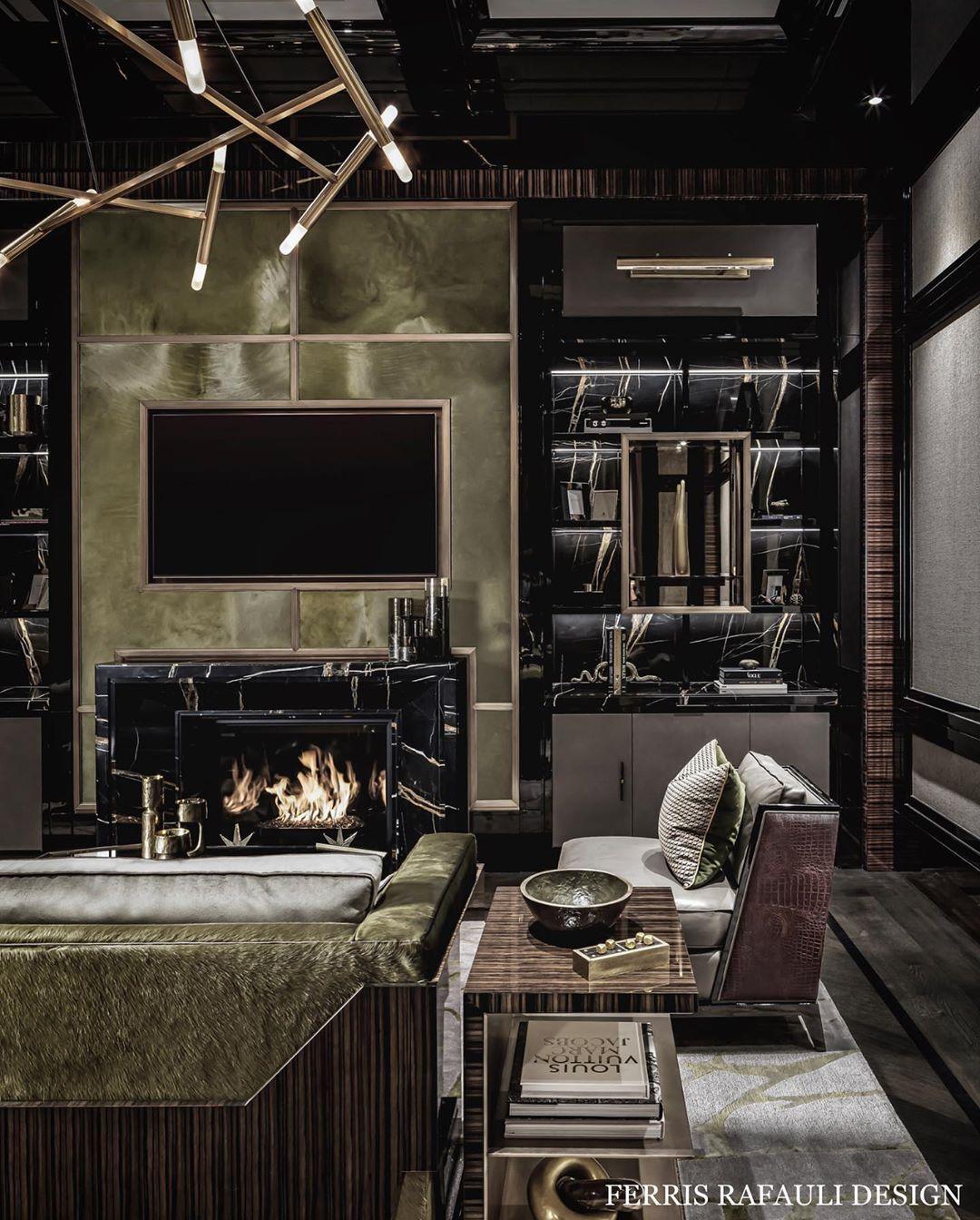 Ferris Rafauli perfectly combines exterior architecture with interior design like a master! #interiortrends #contemporarydesign #interiordesignideas #interiorarchitecture #livingroom