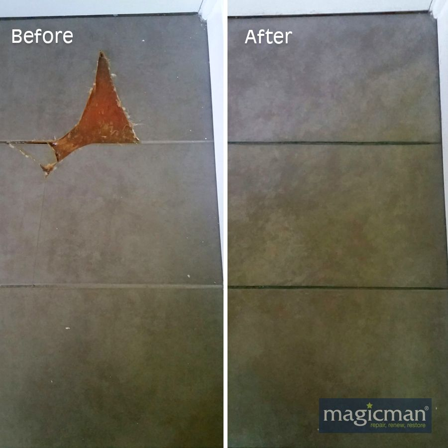 Magicman Restore Damaged Tiles Without The Need For Replacement Tiles And With No Ancillary Damage Bathrooms Tile Repair Exterior Tiles Wall And Floor Tiles