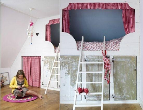 zweite etage ideen schlafecke im kinderzimmer | betten, Schlafzimmer