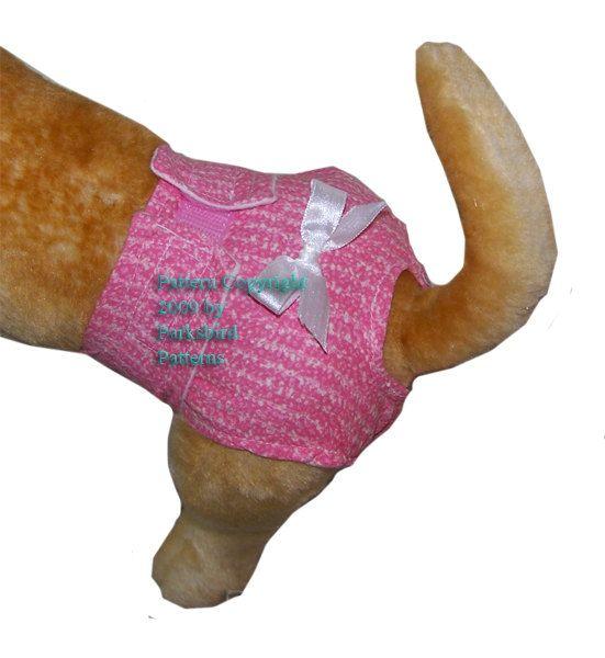 Dog Diaper - Sewing Pattern ePattern pdf file - Make your own ...