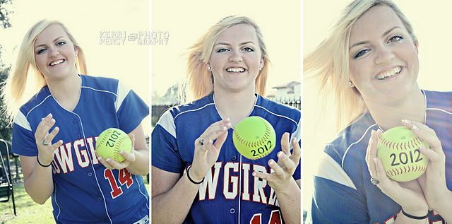 Senior photography softball 2013 on the ball...this would work for boys also