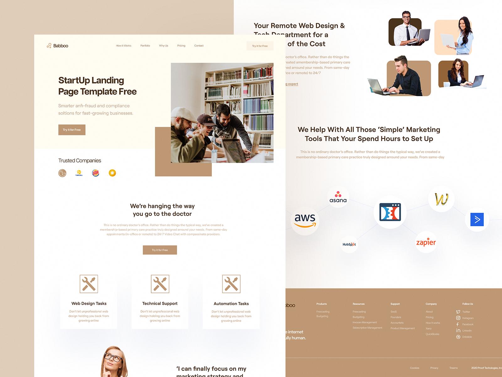 Babboo Landing Page In 2020 Landing Page Web Design Design
