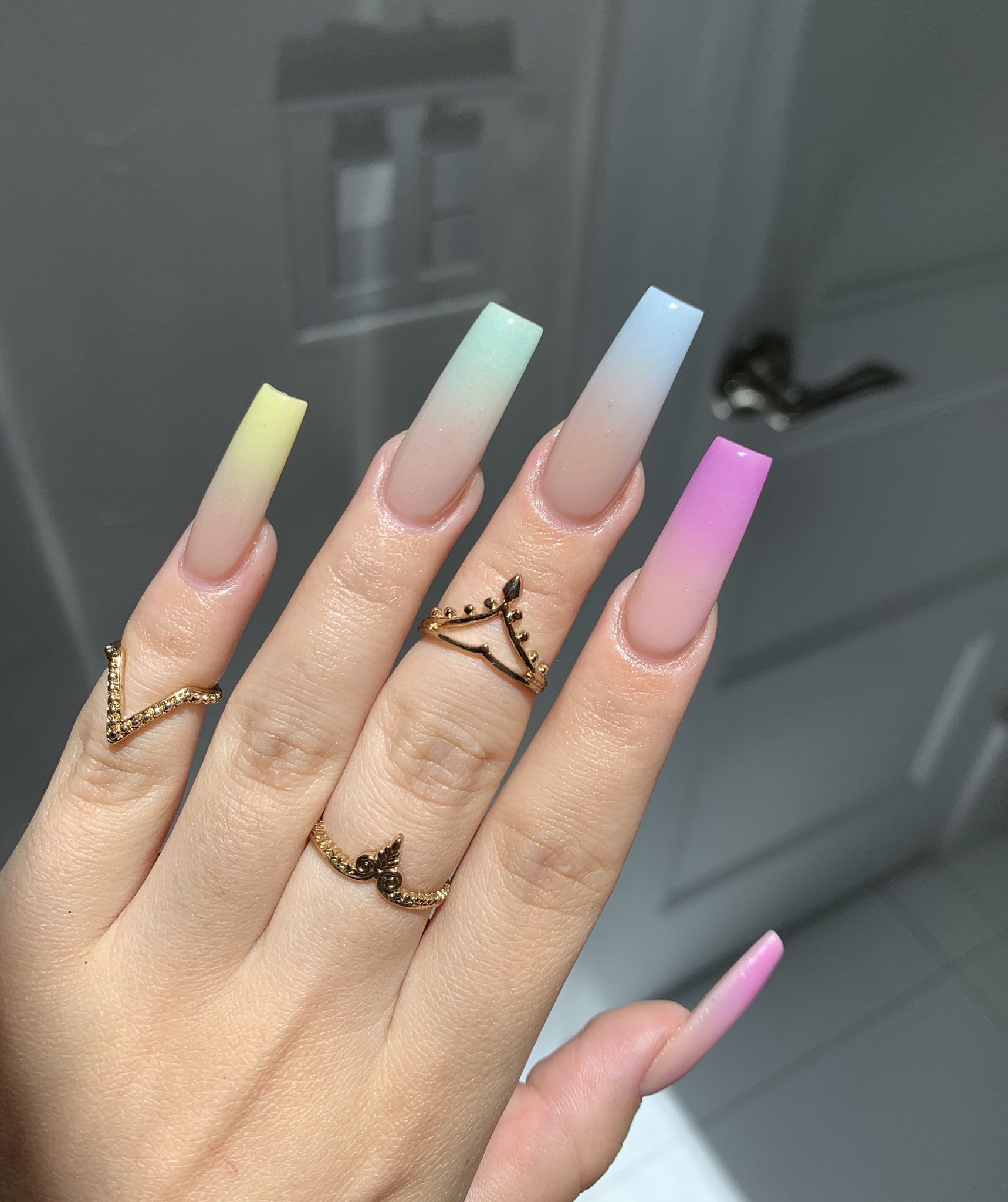Follow For More Kaycedes Bad Nails Rainbow Nails Best Acrylic Nails