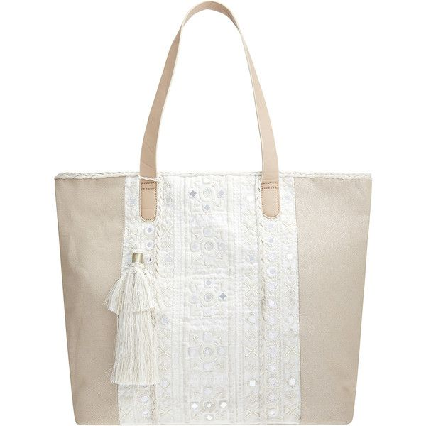 Monsoon Shelley White Isles Per 48 Liked On Polyvore Featuring Bags Handbags Tote Ping Bag