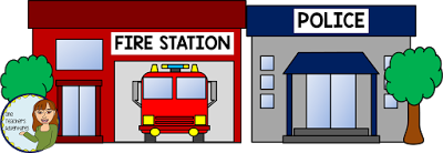 Community Buildings Clip Art Set | Police station, Clip ...