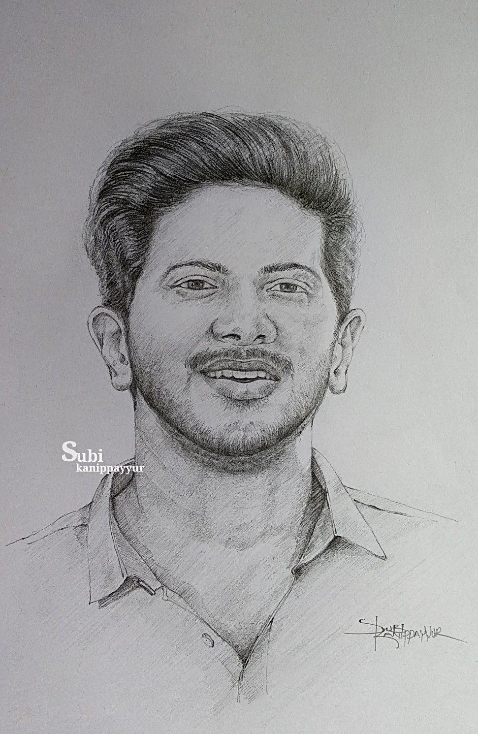 Dulquer salmaan my pencil drawing in 2019 sketches art