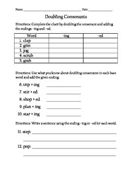 24+ 3rd grade spelling worksheets double consonant Popular