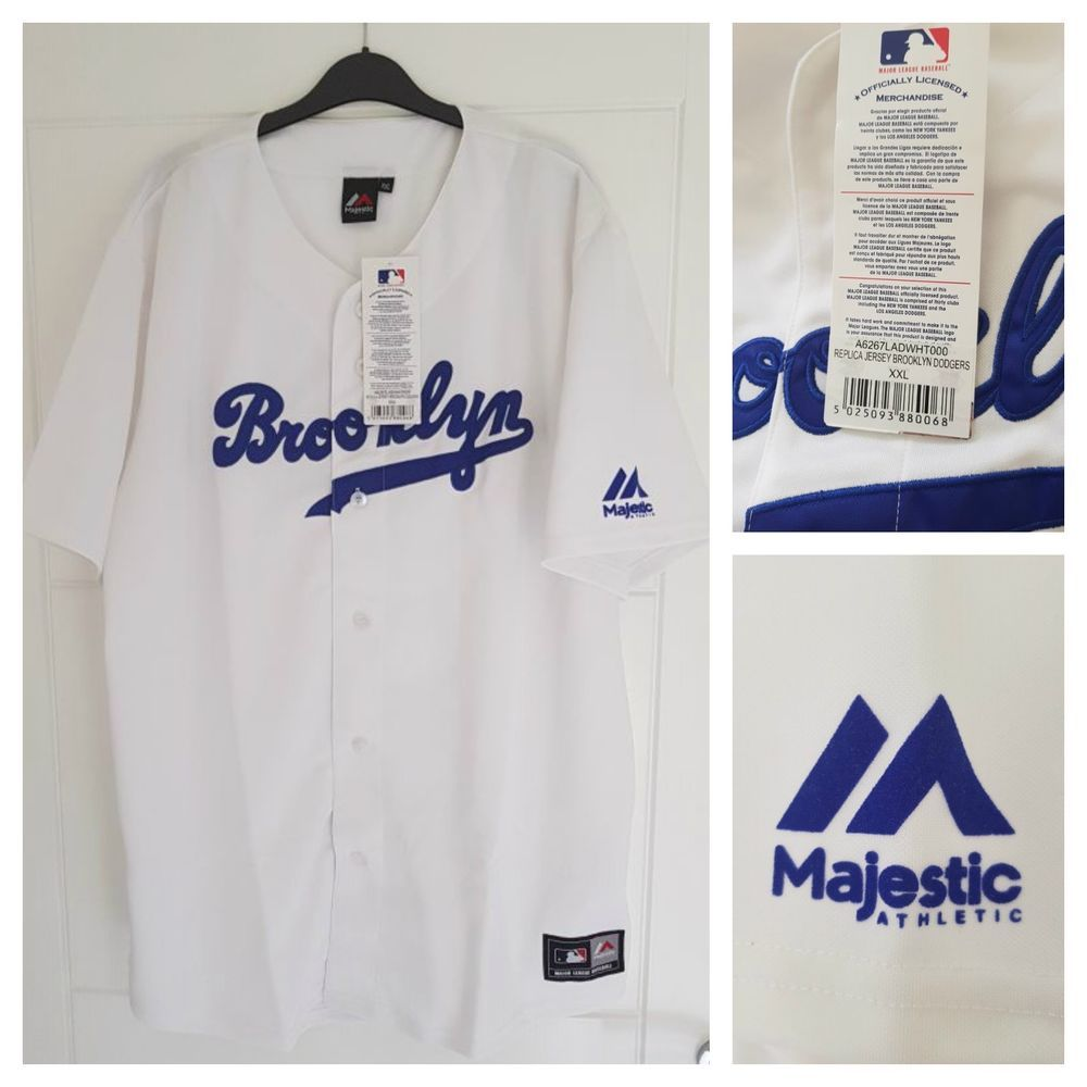 Majestic Brooklyn Dodgers Mlb Official Baseball Jersey Shirt Authentic Men S Xxl Maj Basketball Uniforms Design Baseball Jersey Shirt National Baseball League