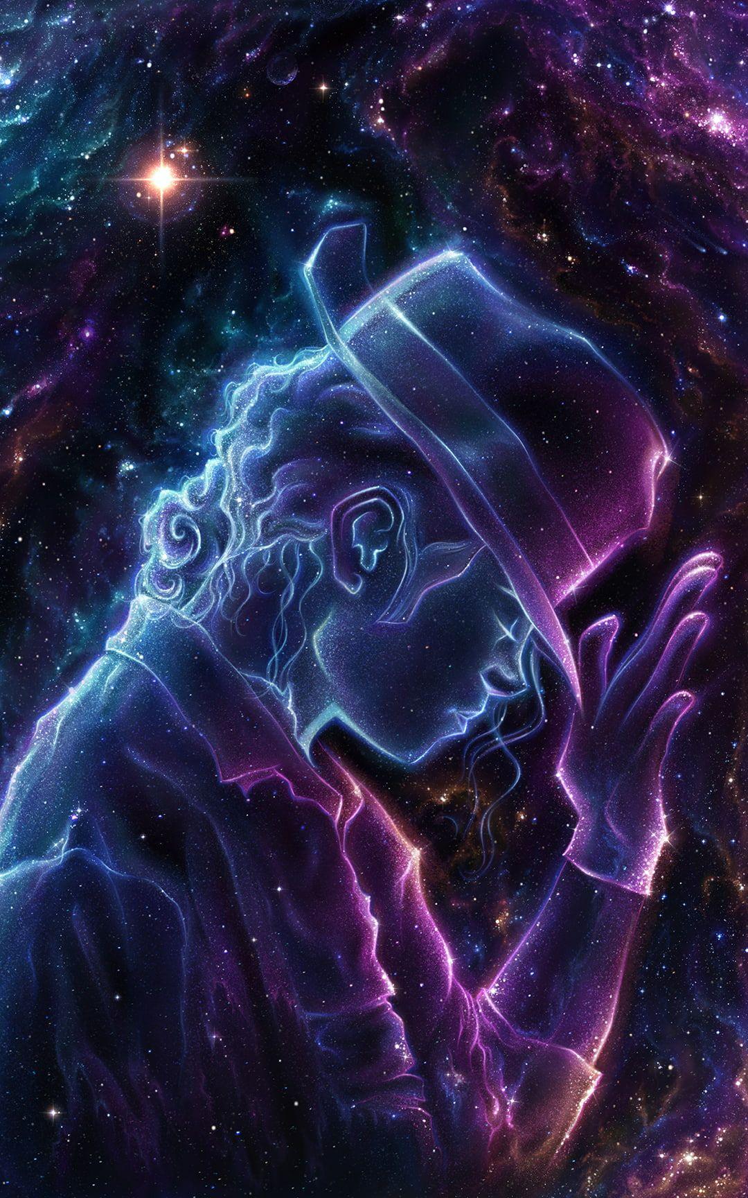 Michael Jackson Fan Art Celebrity Space Art Universe Fantasy Art