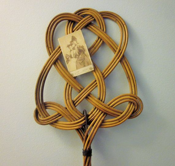 Vintage French Rug Beater Rattan