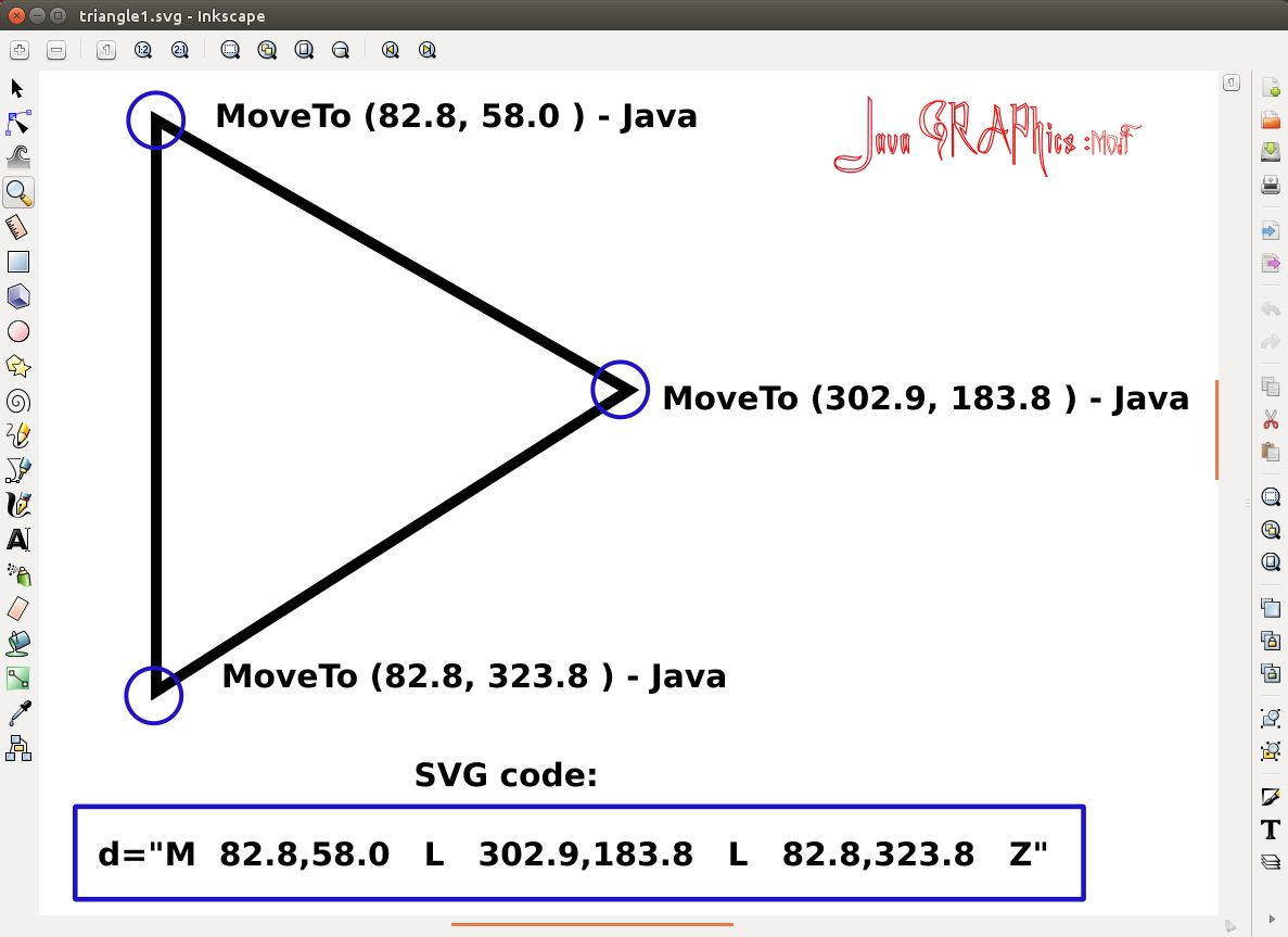 JavaFX  Triangle specification in SVG  Ch12_3  | Java