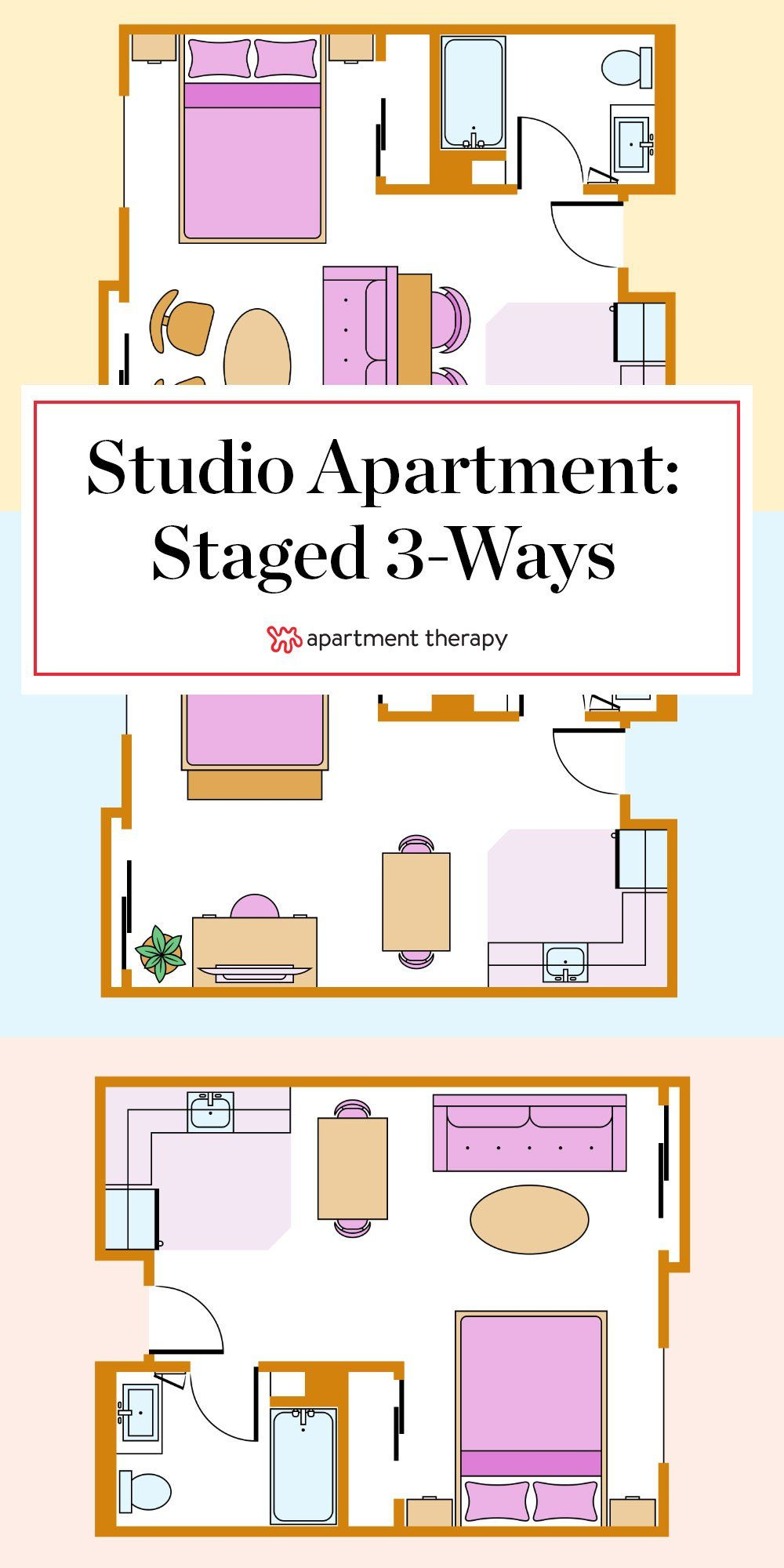 3 Studio Apartment Layout Ideas You Should Steal from One ...