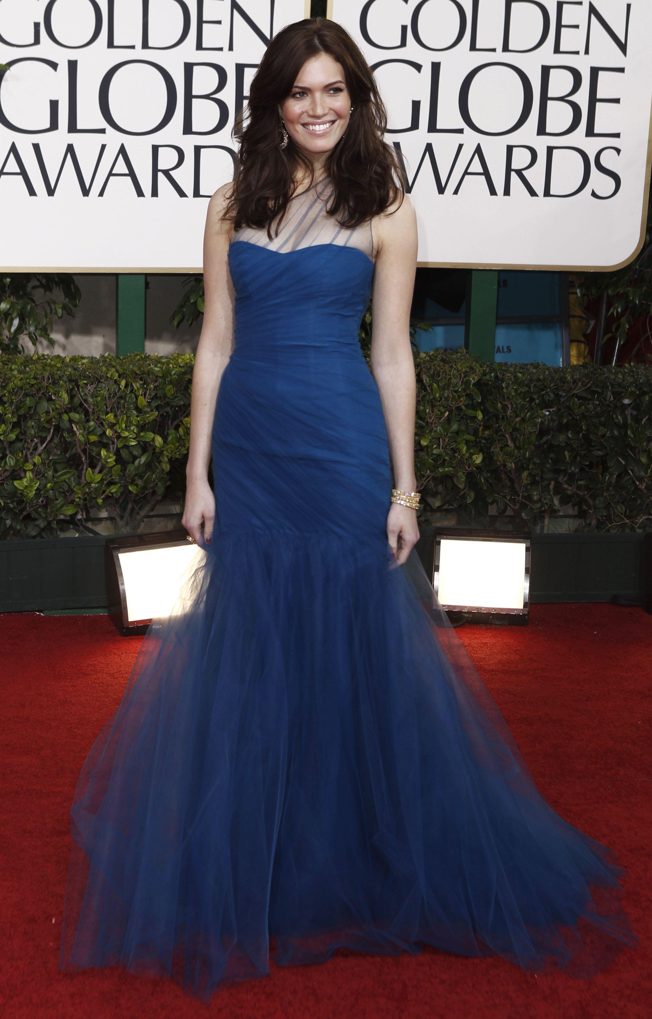 Evening blue dress mandy moore looks dresses evening long