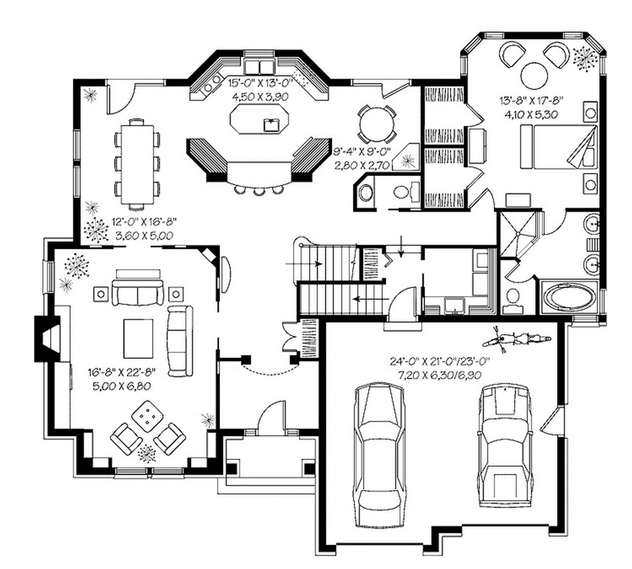 Beautiful minimalist house plans plan gorgeous penthouse for Modern mansion house plans