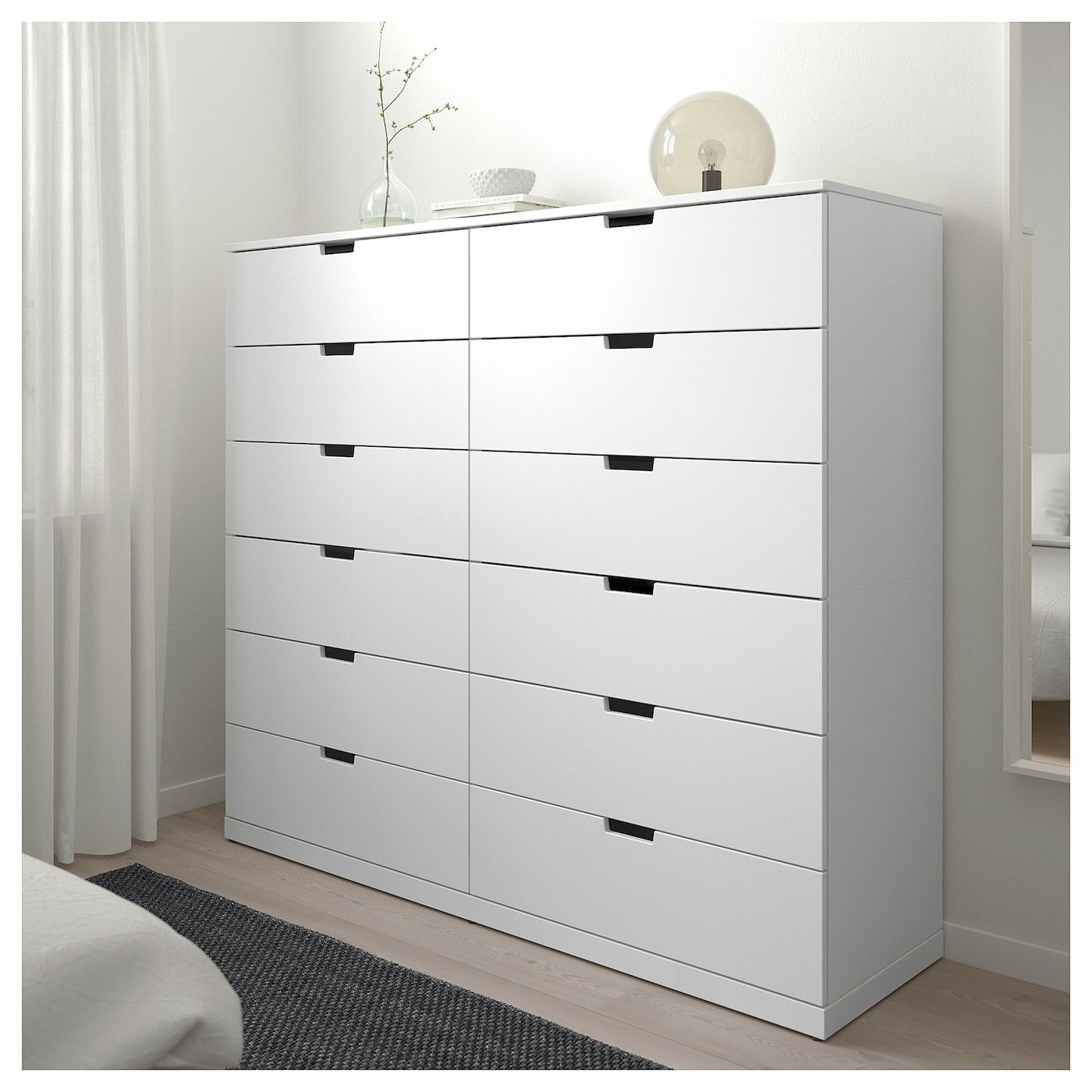 Nordli 12 Drawer Chest White Ikea Ikea Nordli Ikea Chest Of
