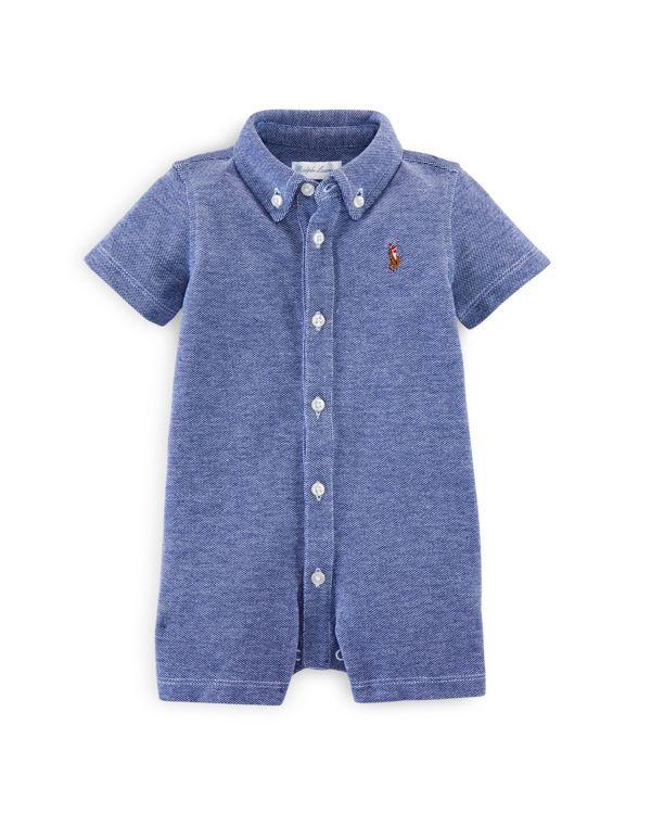 7650d8c2f Ralph Lauren Infant Boys  Button Down Shortall - Sizes 3-12 Months ...