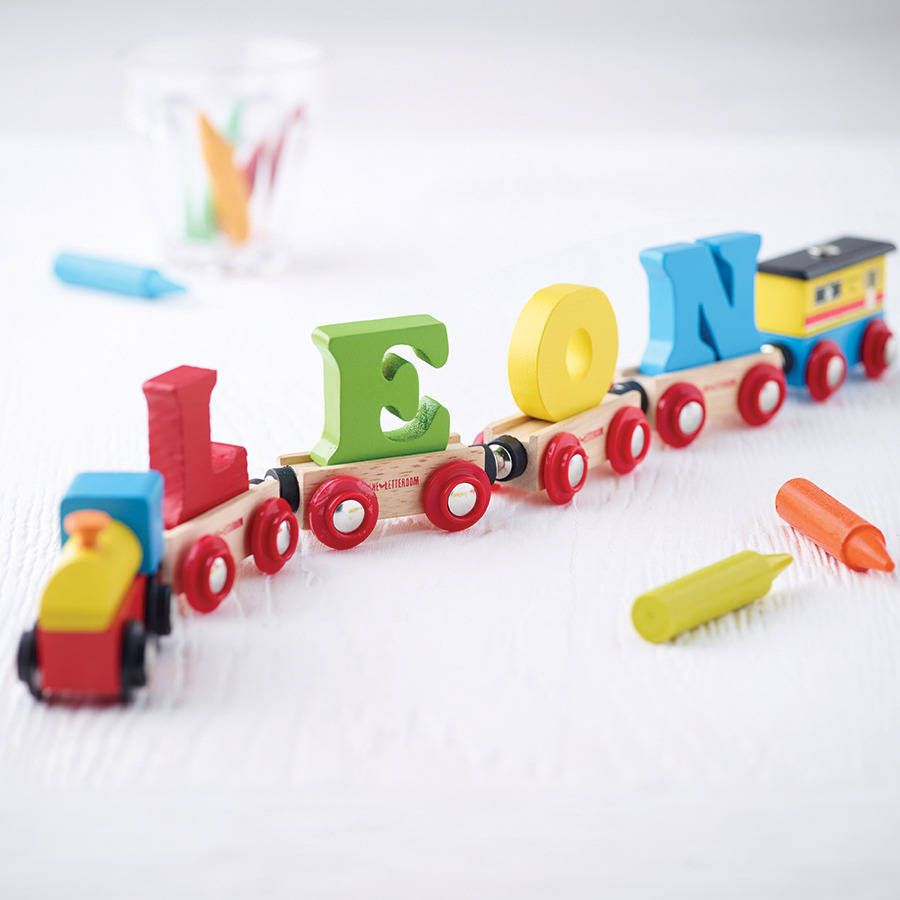 Wooden name train train set nursery and babies wooden name train gifts for babygifts negle Image collections