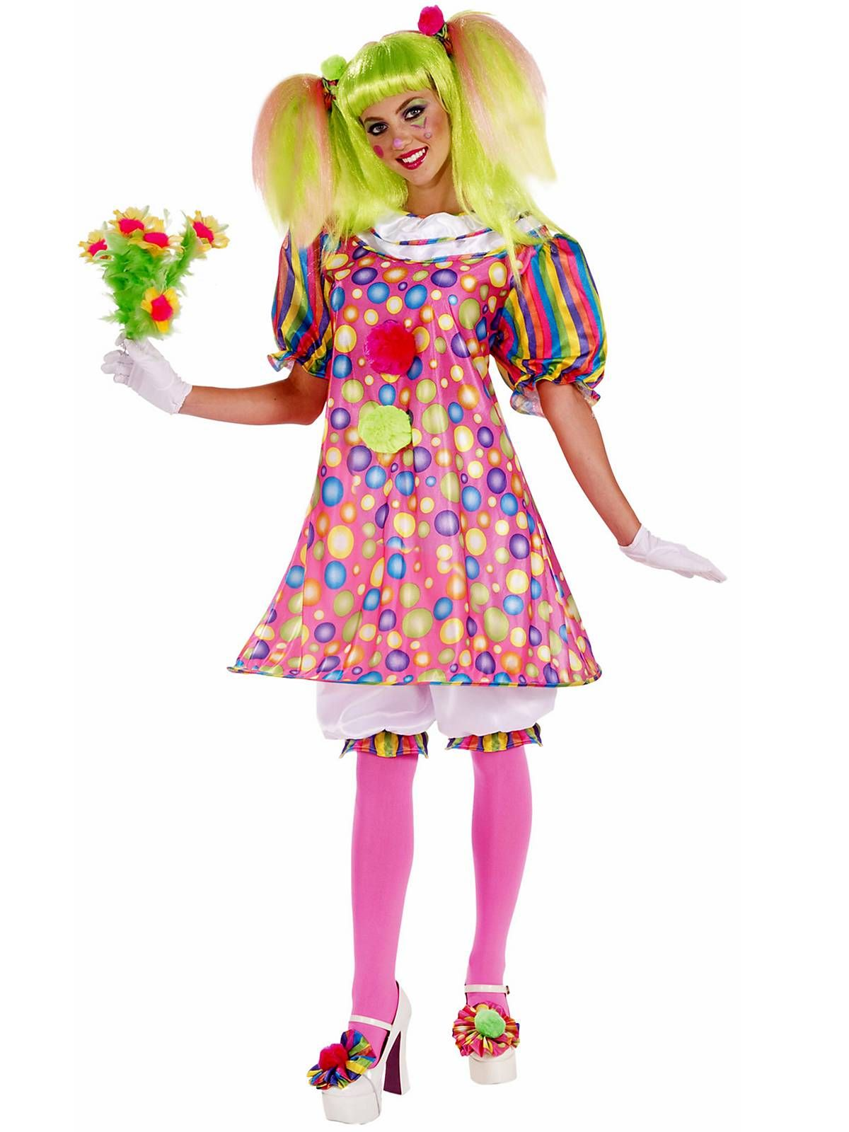 Womens Tickles The Clown Adult Costume | Costumes, Clown halloween ...