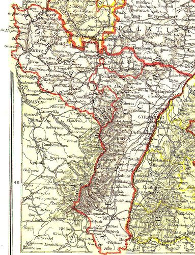 Map Of Germany 1871.Alsace Lorraine Map 1871 The German States Proclaimed Their Union