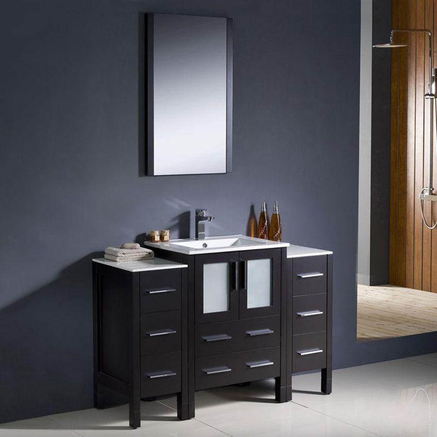 Fresca Bari Espresso 48 In Undermount Single Sink Bathroom Vanity