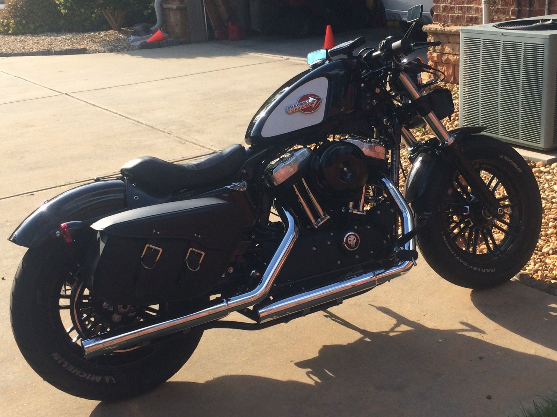 Harley Davidson forty eight with custom modifications, Vance and ...