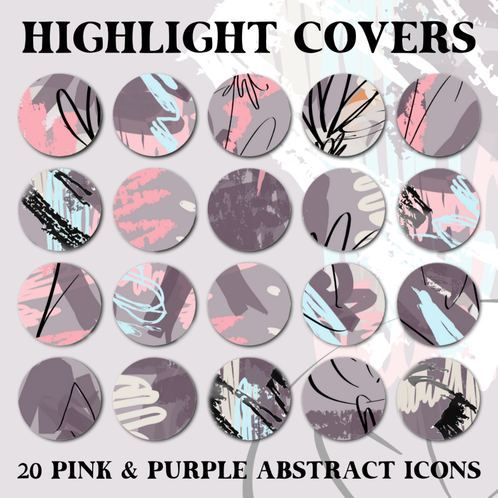 Instagram Story Highlight Covers - Pink Purple Abstract Icons