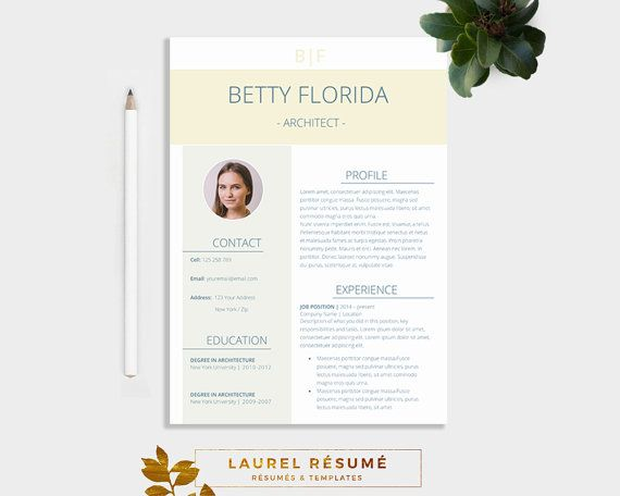 Elegant Résumé Template 3 Pages Resume + Cover Letter + 1 page
