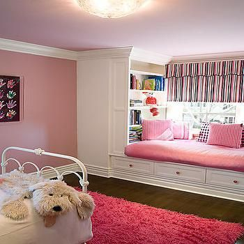 Phenomenal Pink Window Seat Transitional Nursery Brown Design Ocoug Best Dining Table And Chair Ideas Images Ocougorg