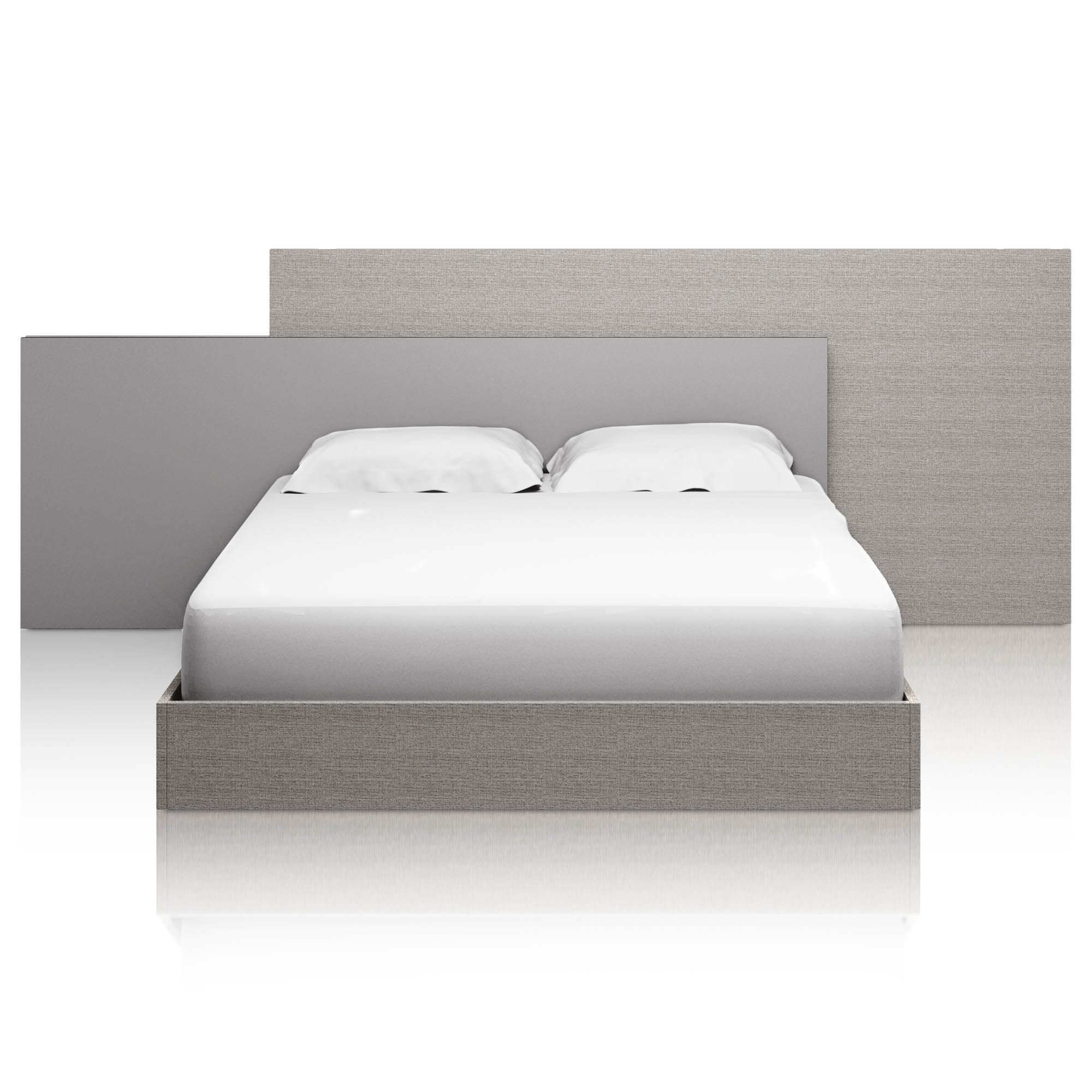 Forte Bed Matte Gray Oak Queen In 2020 Bed Cal King Bedding Grey Oak