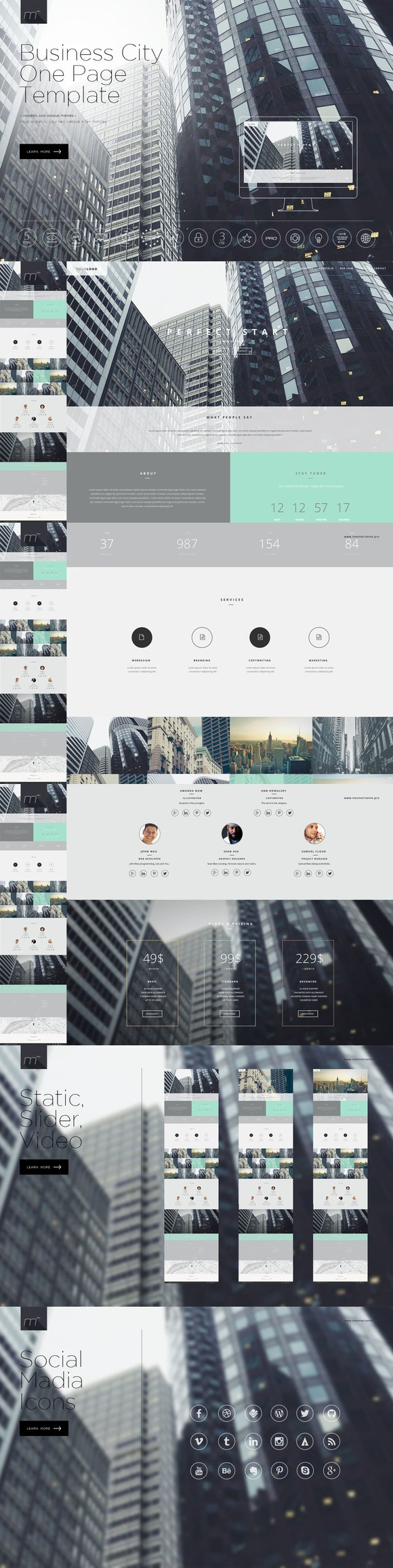 Bahubali - Business Template. Bootstrap Templates. $10.00 ...