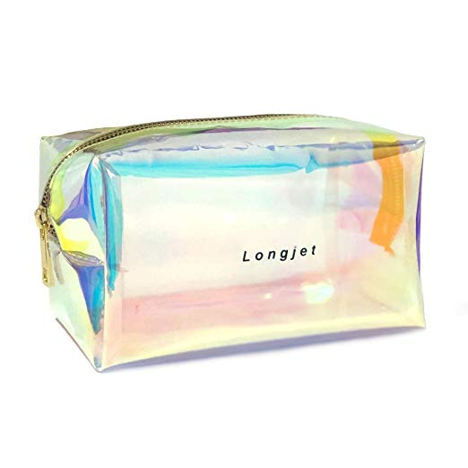 Longjet Holographic Makeup Bag Clear Cosmetic