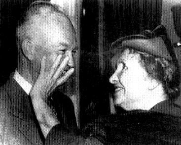 Helen Keller with President Eisenhower, c. 1955. Photo from the Helen Keller Photographic Collection.