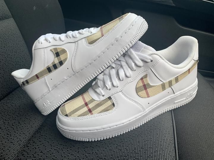 Custom burberry 19 air force 1 in 2020 | Nike shoes air