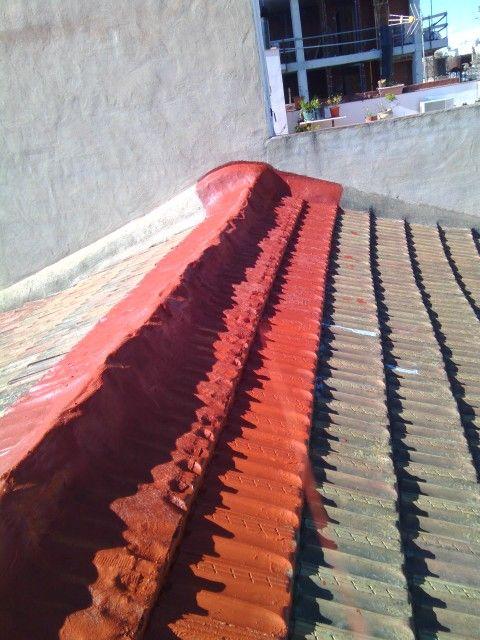 Reparacion de tejado en murcia con pintura cucho y fibra de