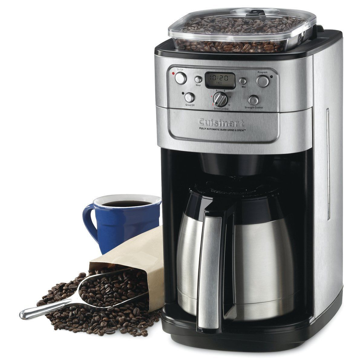 Details About Coffee Maker With Grinder Automatic Whole Bean 12 Cup Machine Quick Touch Brewer With Images Cuisinart Coffee Maker Coffee Maker With Grinder Best Coffee Maker