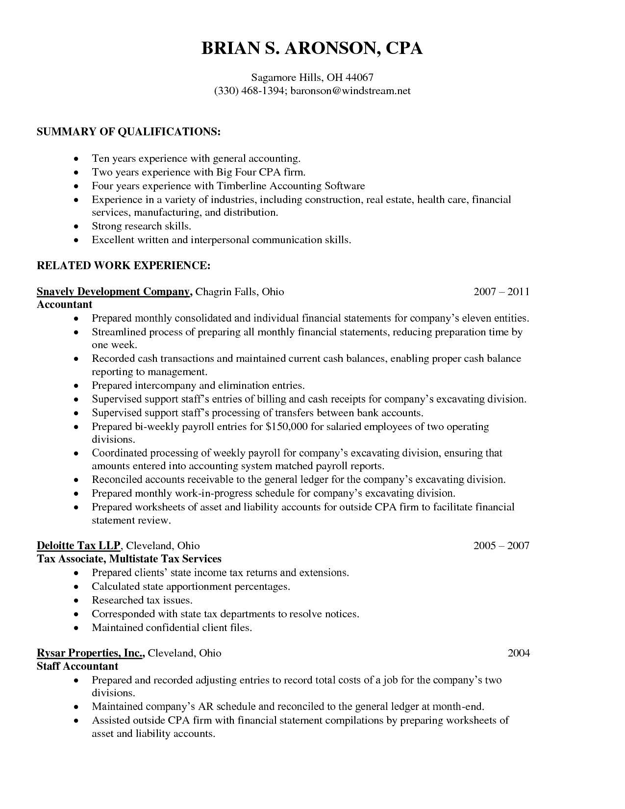 Resume Examples Big  Accounting    Resume Examples