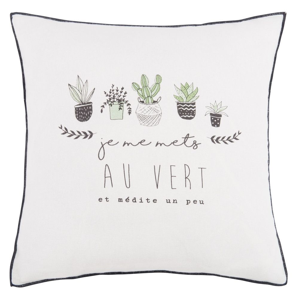 Federe Cuscini Maison Du Monde.Linge Deco Printed Cotton Cushions Deco