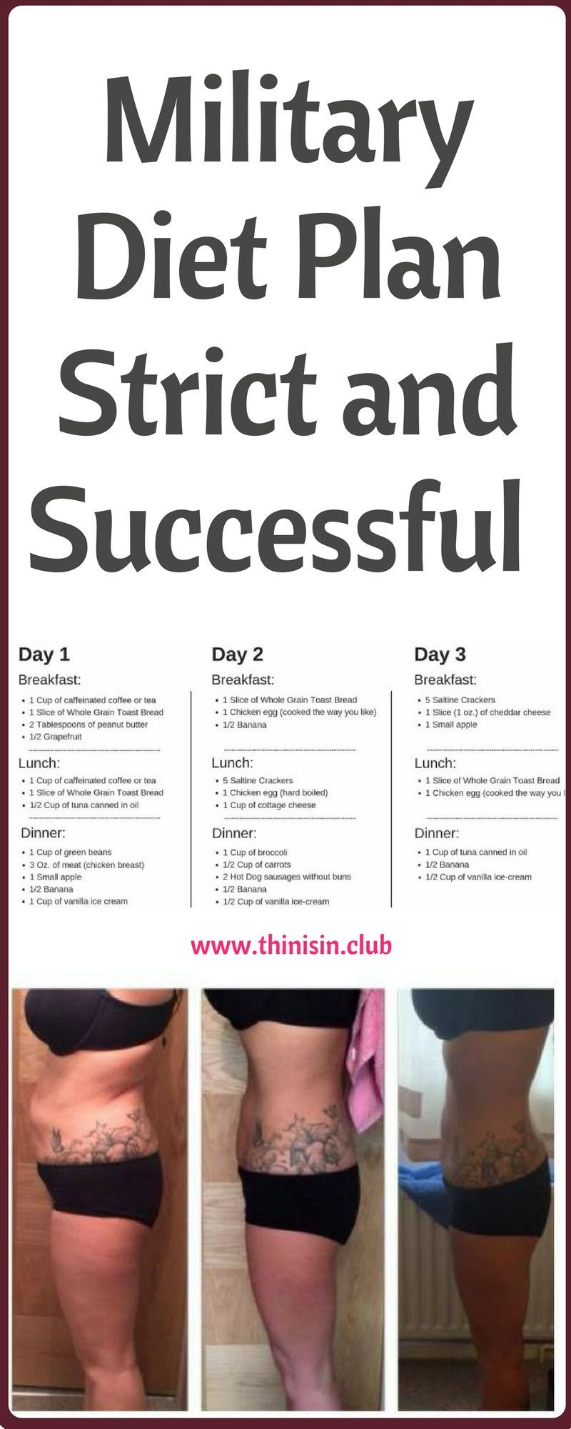 Military Diet Plan -Strict And Successful !!!