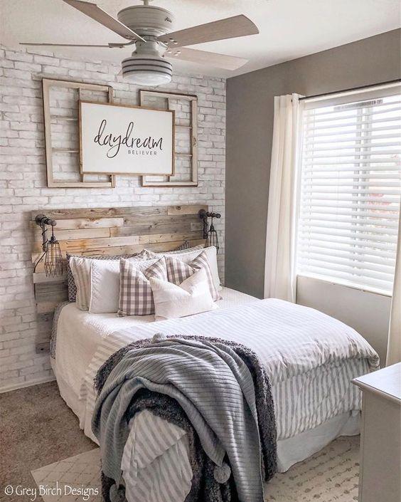 50 Cozy Rustic Farmhouse Bedroom Design Ideas Rustic Master Bedroom Farmhouse Style Bedroom Decor Farmhouse Style Bedrooms Rustic farm bedroom ideas