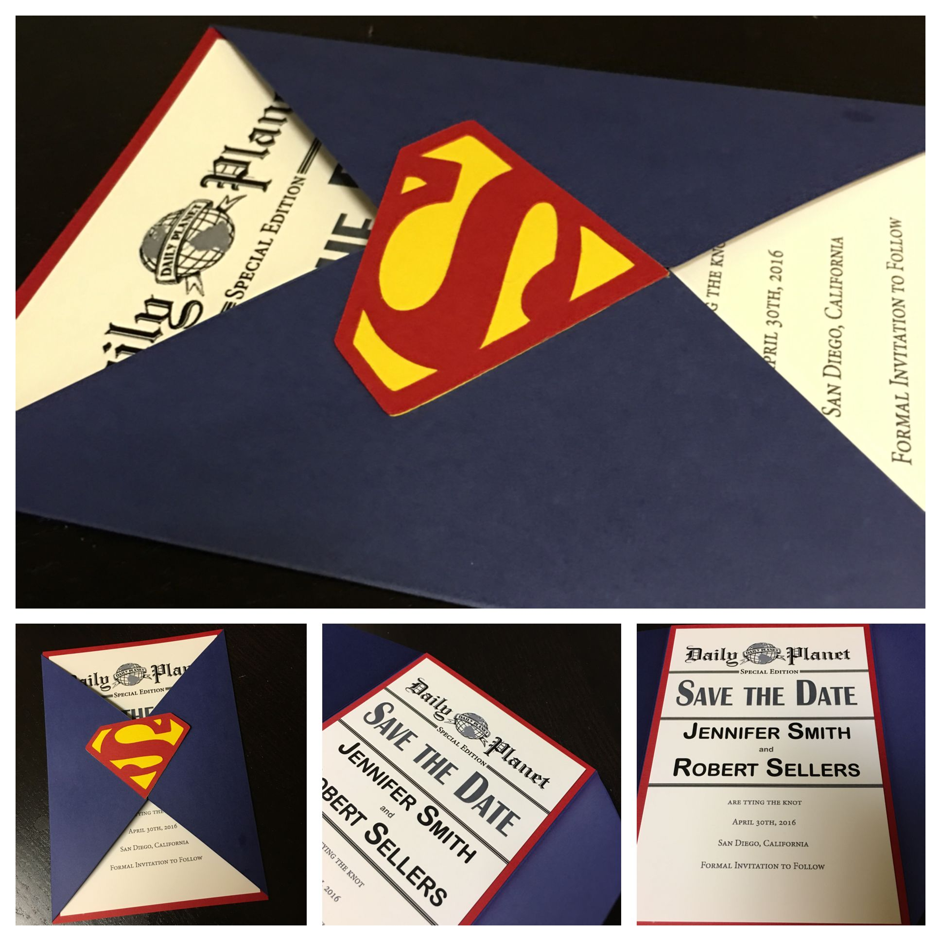 Superman Save The Date... By Amira Design...