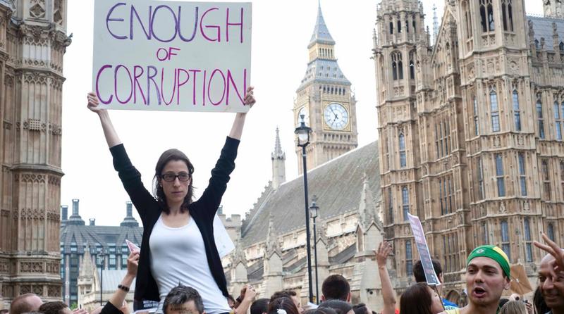 Manifestações em Londres para o Brasil. #changebrazil