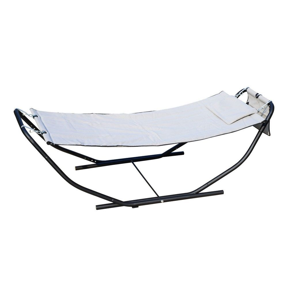 and cushions brown ml frame metal garden textoline seater hammock with seat back swing