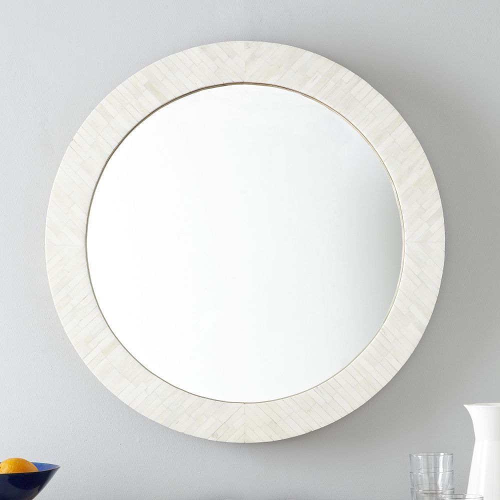 Parsons round mirror bone inlay interior design pinterest our parsons wall mirror reinterprets the original iconic parsons design with a simple yet substantial frame that brings dimension and texture to any room amipublicfo Image collections